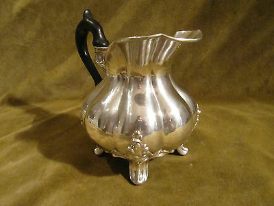 1910 french sterling silver 950 potbellied creamer Debain foliages 227gr