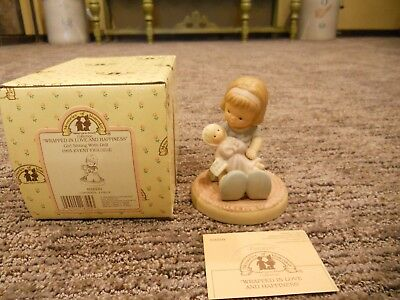Vintage 1994 Enesco Memories of Yesterday Wrapped in Love and Happiness IOB