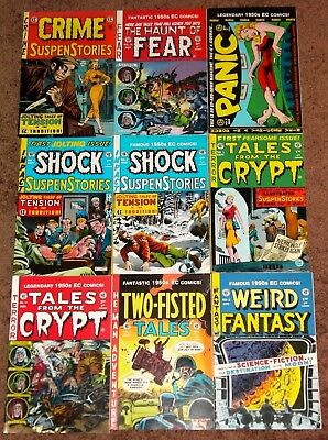 EC 21 Comics Lot Crime Shock Panic Weird Science Fantasy Fear Crypt Two-Fisted