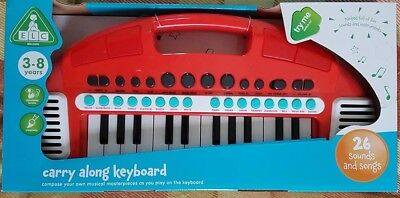 Elc Carry Along Keyboard Red Early Learning Centre 134445