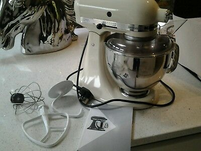 KitchenAid Artisan 4.8 litre Stand Mixer Almond Cream Used excellent condition