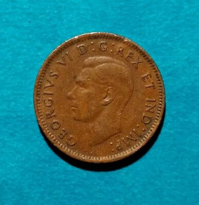 1946 Canadian Penny Canada One 1 Cent King George Vi 6