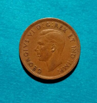 1947 CANADIAN PENNY Canada One 1 Cent King George Vi 6