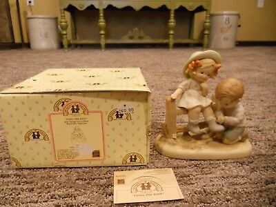 Vintage 1990 Enesco Memories of Yesterday Tying The Knot IOB