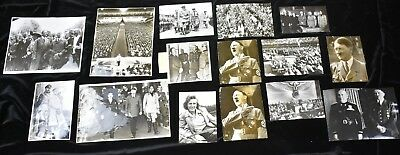1930s & 1940s Adolph Hitler & Leni Riefenstahl WWII Vintage Photo Press Lot (23)