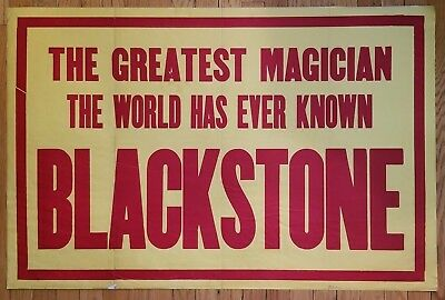 The Greatest Magician The World Has Ever Known Blackstone Poster