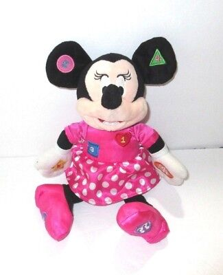 Disney Minnie Mouse Plush Learning Pal Toy Interactive Learning Doll