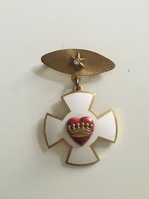 Odd Fellows Rebekah Decoration of Chivalry Medal/Badge Vintage
