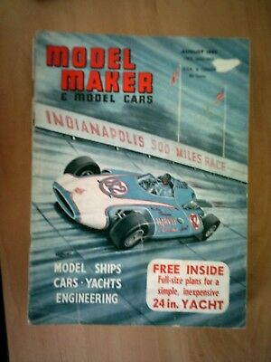 Model Maker & Model Cars Magazine August 1963  Old & Complete