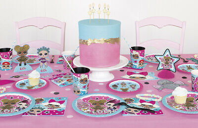 Lol Surprise Birthday Party Range (Tableware,Decorations,Balloons) L.O.L