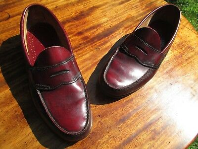 VTG Made in USA BASS WEEJUNS 10.5 D Hand Sewn Original Sole & Heel