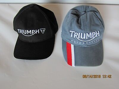 TWO Triumph motorcycle caps/hats for less than the price of one!