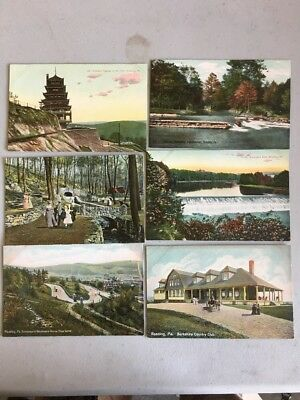 Antique Postcards Lot Early 1900s All Reading PA. Lot Of 6
