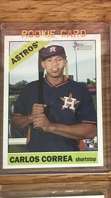2018 Topps Heritage Carlos Correa Rookie Card