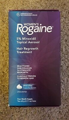 Women's Rogaine Hair Regrowth Treatment Foam Solution 4 Four Month Supply NEW