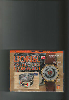 Lionel Train Watch - Factory Sealed With Numbered Coa - Train Moves & Sounds