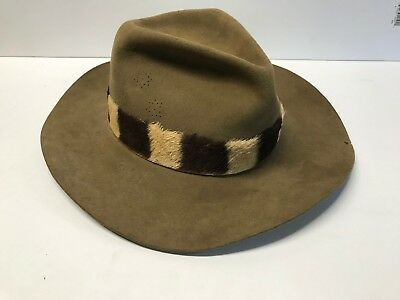 Willis & Geiger Outfitters Wool Felt Safari Hat Zebra Band 7 5/8 South Africa