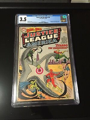 Brave and The Bold 28 Cgc 3.5 1st app Justice League of America Flash Batman