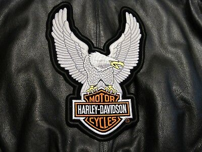 Harley Davidson Upwing Eagle Patch For Leather Vest Or Jacket 8 X 11 Inch Look!!