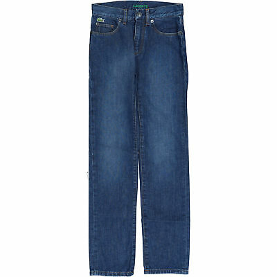 LACOSTE Boys' Blue Jeans, Skinny Fit, Low Rise, 10 years W25 L29