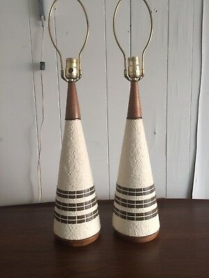 A Pair Of Vintage Mid Century Modern PLASTO Table Lamps