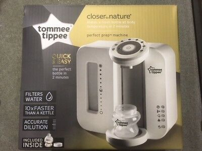 BNIB Tommee Tippee Closer to Nature Perfect Prep Baby Bottle Machine - White