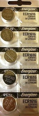 5 x Fresh ENERGIZER CR1616 BATTERY 3V LITHIUM CR 1616 DL1616 BR1616 EXP 2024