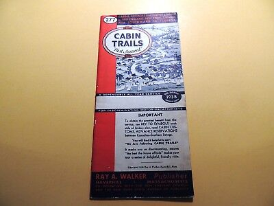 Cabin Trails 9th edition 1938 directory cabins cottages motor courts Eastern US
