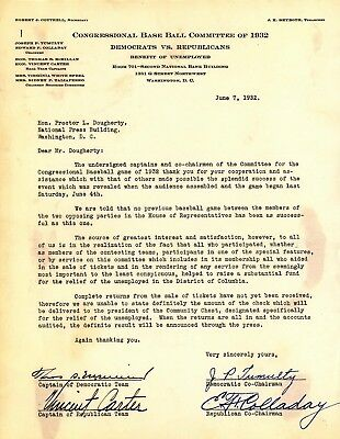 1932 Congressional Base Ball Committee Letter - 4