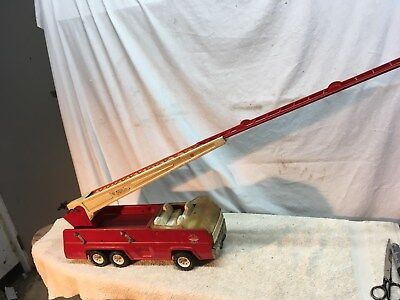 Tonka Vintage Red Fire Truck Steel One  Ladder Nice Hook And Ladder 1970s