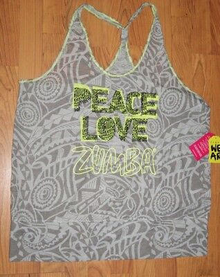 """Size XS//S M//L and XL//XXL Zumba /""""Pacific Fancy Top/"""" in Blue Waterfall"""