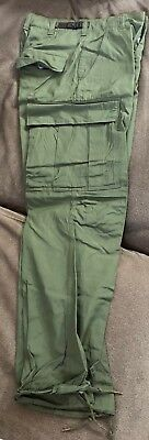 Us Army Combat Field Trousers Pants Og -107 Unissued X-Small Short Poplin