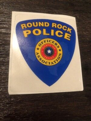 Round Rock Texas Police Officers Association Window Decal Police Department