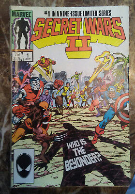 Secret Wars II 2 Marvel 9 Issues lot Set of All 1 - 9 See Pictures For Grade