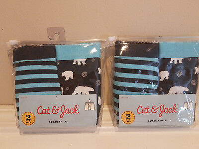 4 count Cat and Jack Boys Holiday Boxer Briefs * Size L Large * 4 pair NEW