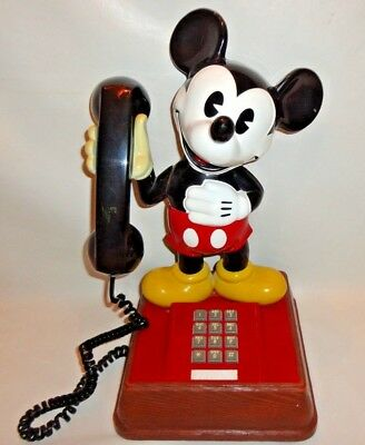 Vintage The Mickey Mouse Phone Disney Push Button Telephone Atc Vg Working Cond.