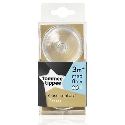 Tommee Tippee 2pk Closer To Nature Medium Flow Baby Bottle Nipples