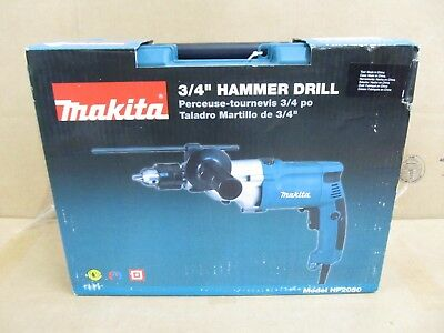 Makita HP2050 3/4 in. 6.6 Amp 2-Speed Lightweight Hammer Drill with Case