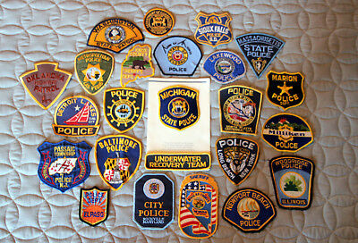 Law Enforcement, Sheriff, Police---Patch Lot of 23--new and used