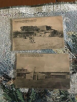 Two Fred Harvey Postcards Painted Desert Panama California Exposition