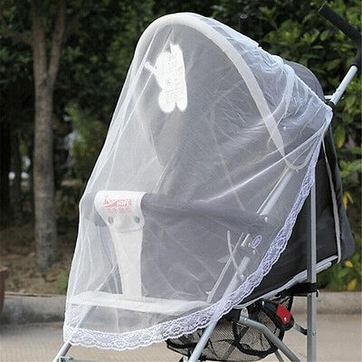 Baby Buggy Pram Mosquito Cover Net Pushchair Stroller Fly Insect Protector JH
