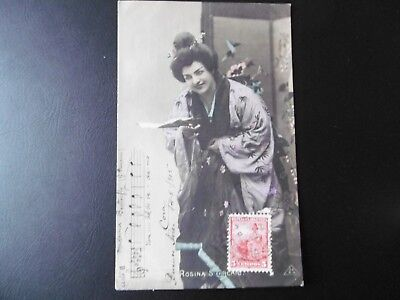 Rosina Storchio as Madam Butterfly - RP - dated 1905