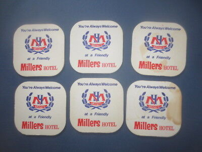 6 x  MILLERS Brewery Hotel ,New South Wales,1960,s  Issued , Coasters