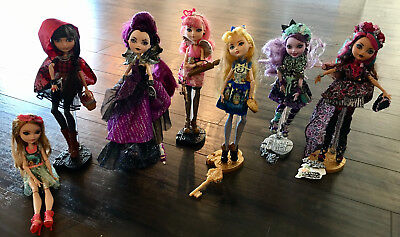 Ever After High Dolls - Rebel and Royal Collection Lot of 7