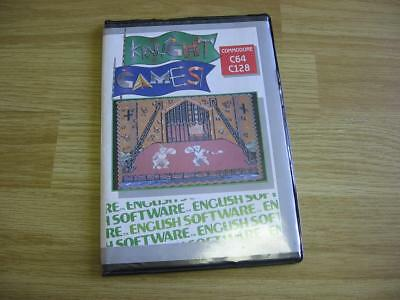 Commodore 64 KNIGHT GAMES Disk Cover Case Only