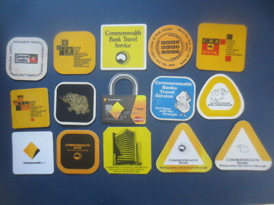 15 different COMMONWEALTH BANK , Issued   COASTERS Collectable