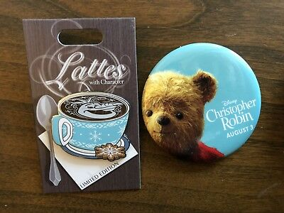 Disney Trading Pin Latte Lattes With Character Series Olaf + Robin Pooh Button