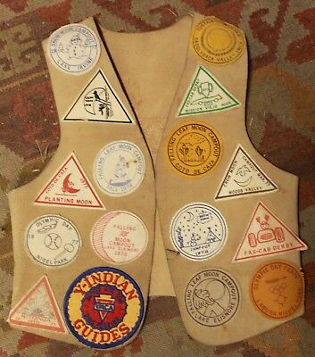 Vintage 1970's Scout YMCA Vest Covered in Patches Southern California