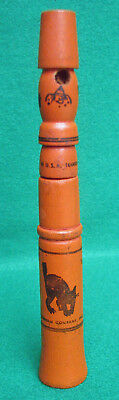 Antique Wooden Halloween Horn Cat Scarecrow Witch Owl Transogram USA