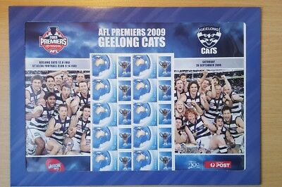 2009 Geelong AFL Premiers stamp sheet pack with Bartel Ablett Ling